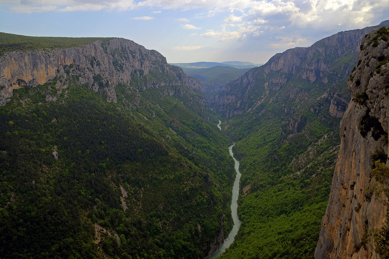 Aerial view of the gorge