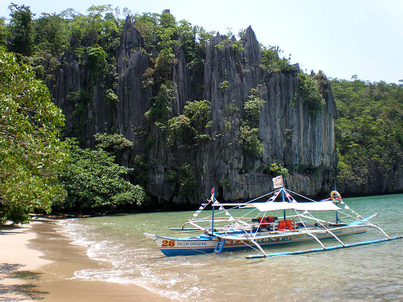 Docking area to get to the underground river