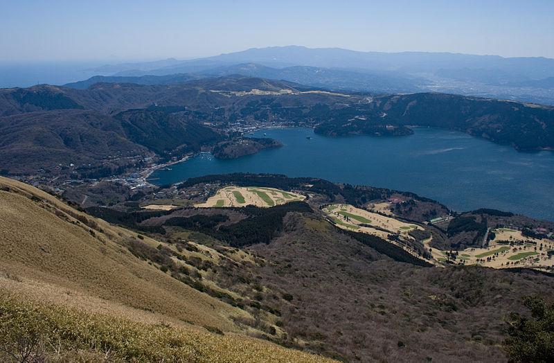 Lake Ashi from Mount Komagatake