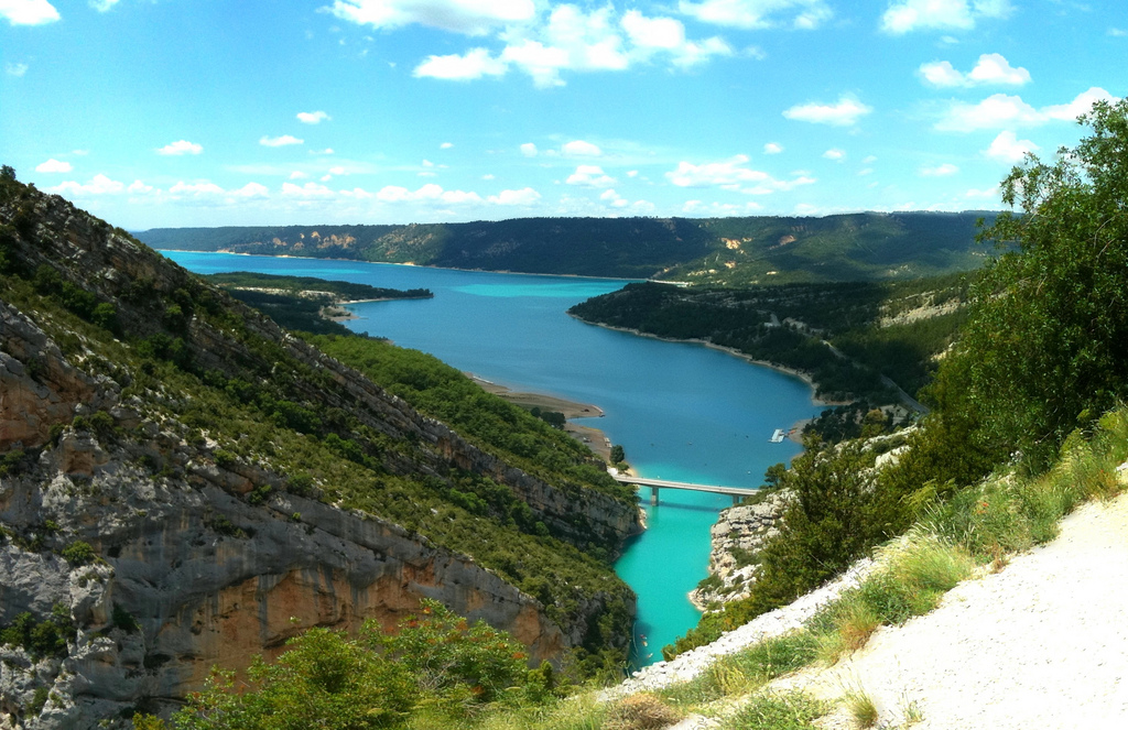 The beautiful waters of the Verdon Gorge is the main attraction