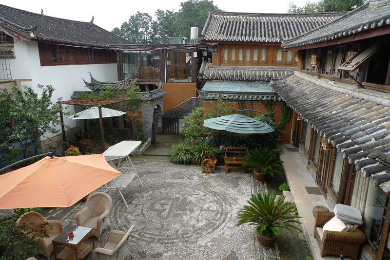 Courtyard at Shuhe Town which is part of the Old Town