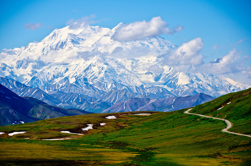 A full view of Mount McKinley