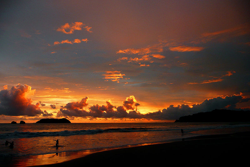 Sunset in the Manuel Antonio park
