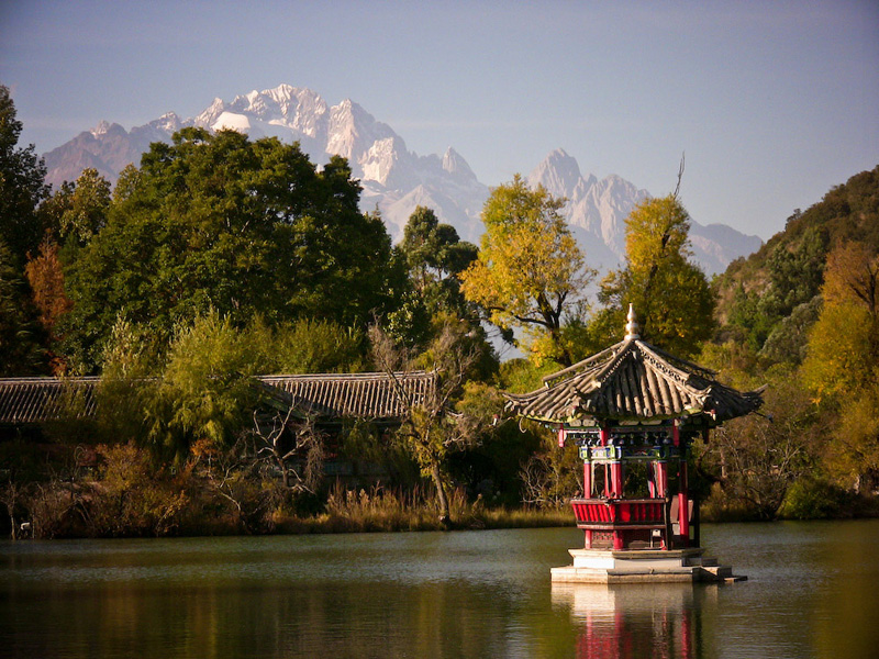 The Jade Dragon Mountain just behind the Black Dragon Pool