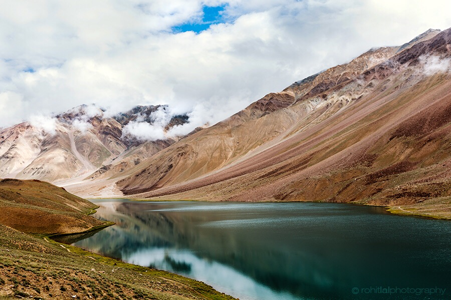 Chandratal Lake in India, Himachal Pradesh 2