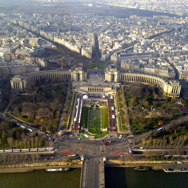 View of Paris city from the Eiffel Tower